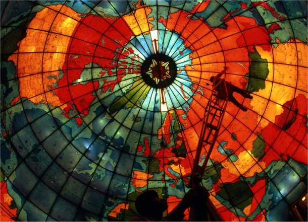 stained glass world