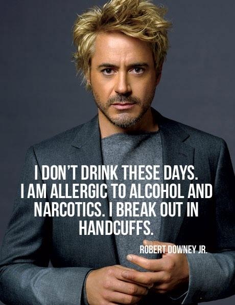 RDJ alcohol and narcotics